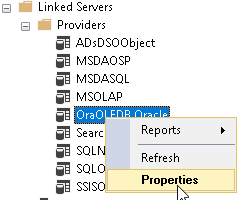 OPENROWSET - Query Oracle from SQL Server using a linked